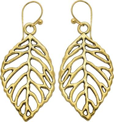 Studiob40 Studiob40 Golden Alloy Designer Drop Earrings Alloy Drop Earring