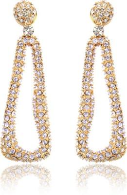 Eclat 613058G Swarovski Crystal Alloy, Brass Drop Earring