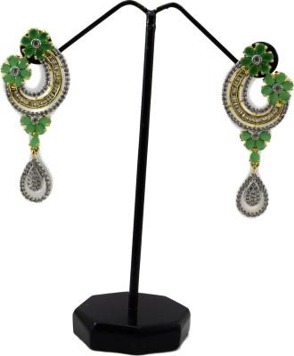 Bharat Sales designer cz stone alloy cuff Cubic Zirconia Alloy Drop Earring
