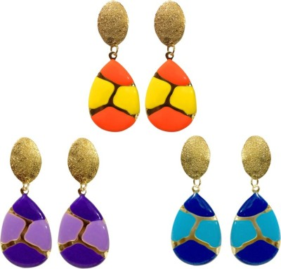 Fashion Frill Combo Metal Drop Earring