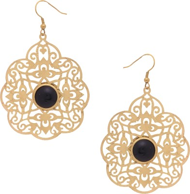 Sankisho Amezing Black Goden Drop Metal, Alloy, Acrylic Dangle Earring