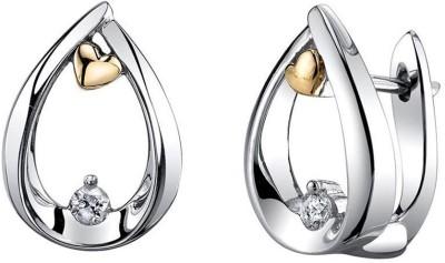 Voylla Precious Classic Plain Sterling Silver Stud Earring