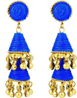 Harini Blue Cone Shape Alloy Jhumki Earring