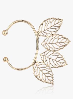 Hi Look Exquisite Leaf Filigree Alloy Hoop Earring