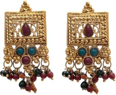 My Sara For Girls In Copper Cubic Zirconia Brass, Copper Drop Earring