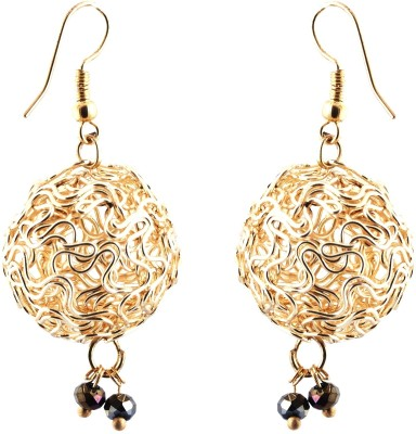 Avrom Classic Gold Wired Balls Brass, Copper Drop Earring