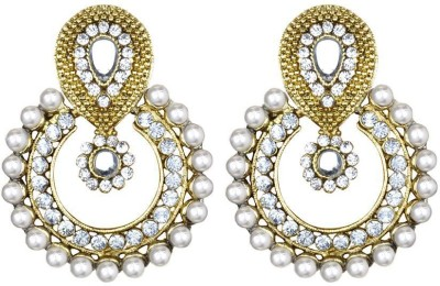 CTW Princess Diamond Round Bollywood Alloy Chandbali Earring