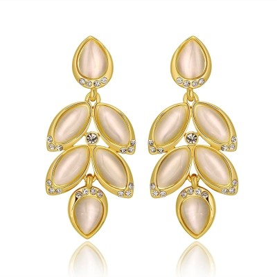 iSweven Outlet gold plated Bohemian ethnic Latest Fashion Luxury ED2544 Zircon Alloy Drop Earring