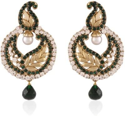I Jewels Leaf Shaped Alloy Chandbali Earring