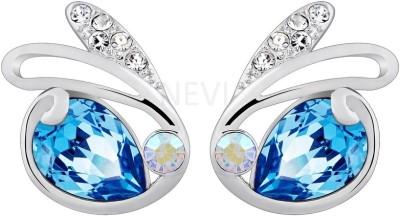 Nevi Swarovski Fashion Flat Designer Stud Earrings Crystal, Swarovski Crystal Crystal, Metal Stud Earring