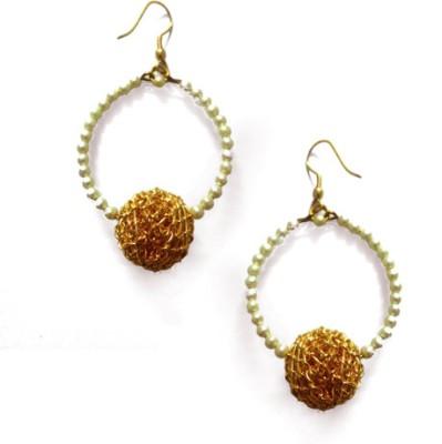 Abhika Jewels Round the clock Brass Dangle Earring