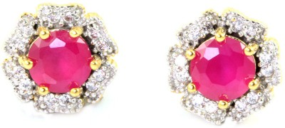 SuperShine jewelry Spring Sparkle Brass Stud Earring