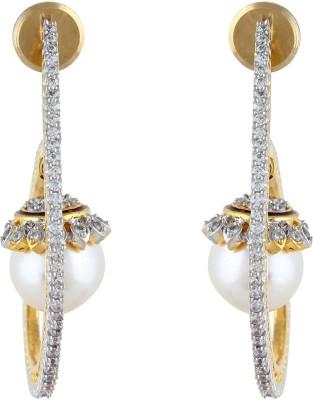 Aadi Creations Single Pearl Copper, Brass Drop Earring