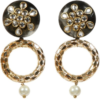 Envy Wooden Pearl Brass Drop Earring