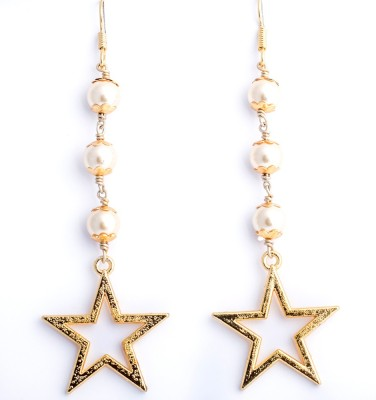 Ijuels Fashion Spring Sparkle Pearl Alloy, Brass Dangle Earring