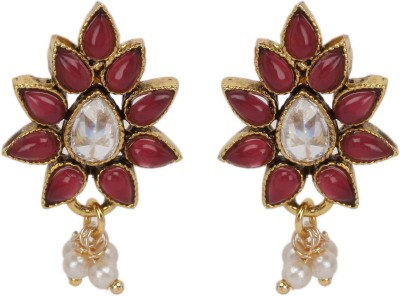 Maisha Kundan with Red cover Alloy Drop Earring
