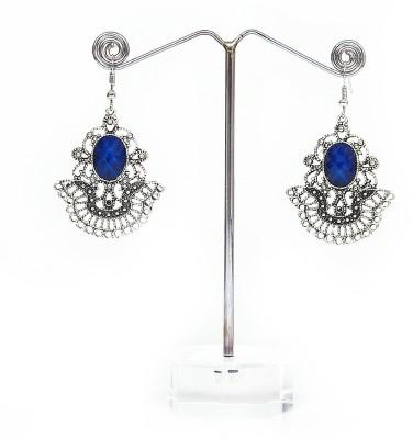 Artisan Saga Blue Stone Alloy, Stone Dangle Earring