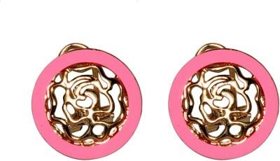 Sparkling Trinkets Pink Alloy Stud Earring