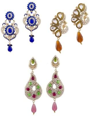 Buyclues RCCJ3442 Crystal Brass Earring Set