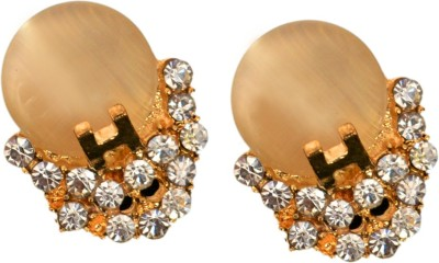 Ak Zopping Collection Alloy Gold Crystal Earring Metal Stud Earring