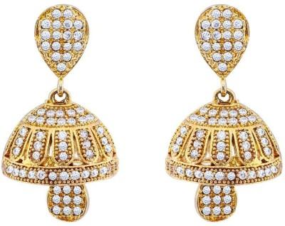 Jewlot Delightful AD 2036 Brass Jhumki Earring