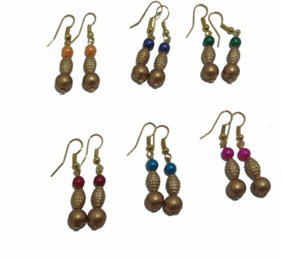 Sharun Collections Six Styles Pearl Steel Earring Set