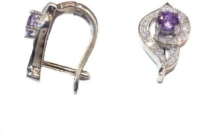 Vummidi Bangaru Chetty & Sons Dazzling stones Sterling Silver Clip-on Earring