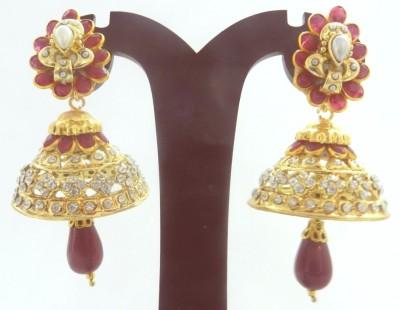 Radhesh Creation Radhesh Creation Crystal Brass Jhumki Earring