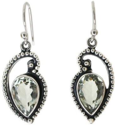 Aabhushan Aabhushajewels Aquamarine Sterling Silver Dangle Earring