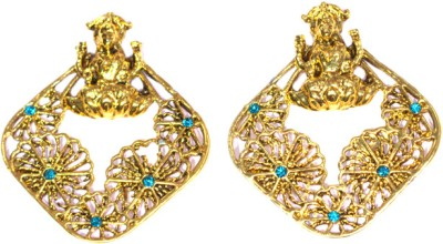Itzmyfashion Traditional Gold Hangings Alloy Stud Earring