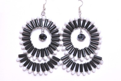 Madam Maira Alloy, Glass Dangle Earring