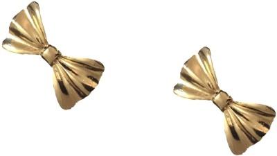 FashBlush Glam Cinched Bow Summar Fresh Alloy Stud Earring