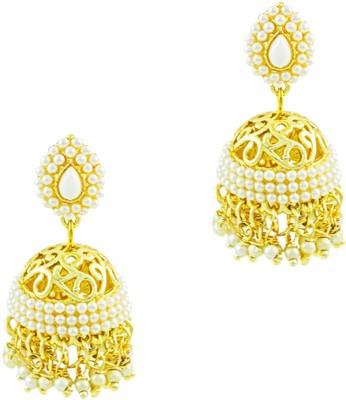 Savvy Eye Catchy Pearl Brass Jhumki Earring