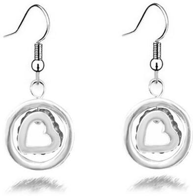 Silver Shoppee Circle Of Love Cubic Zirconia Alloy Dangle Earring