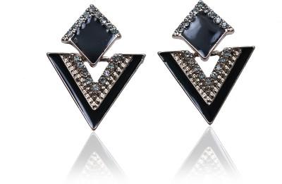 Glam Attires Golden Sparkle Alloy Stud Earring