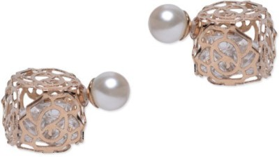 femnmas Hollow Pearl Double Side Celebrity Alloy Stud Earring