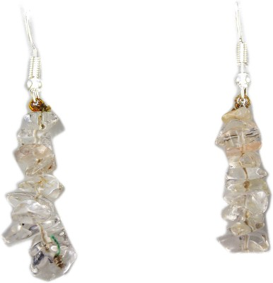 Ear Lobe & Accessories spring sparkle Crystal White Metal Dangle Earring