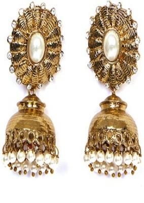 Johara Fashion JF11 Pearl Stone Jhumki Earring