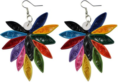 Trendmania Multi colored Butterfly paper quilled earrings Paper Dangle Earring