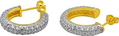 The Fine World Stylish And Subtle Bali Style Zircon Metal Drop Earring