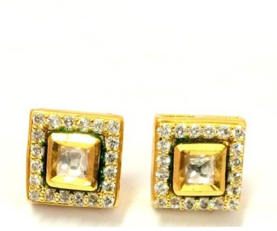 Affinity Jewellers Square Shaped Zircon Alloy Stud Earring