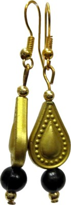 DCS Golden Beads Wood Dangle Earring
