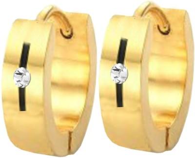 Men Style Best Quality Crystal 316L Stainless Steel Hoop Earring