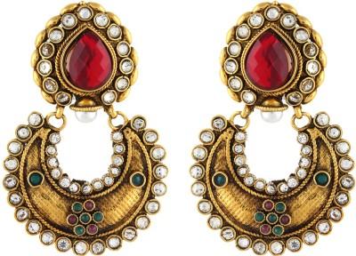 Aadi Creations Diamond Like Copper, Brass Chandbali Earring