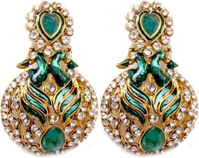 Triumphin Mayoora Crystal Alloy Chandbali Earring