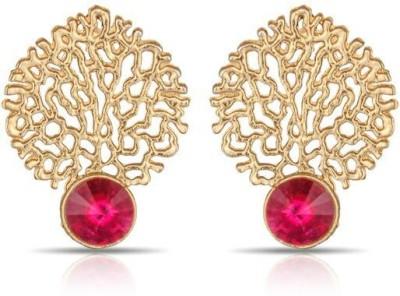 Luxor Lovely Pink Jali Work Designer Alloy Drop Earring