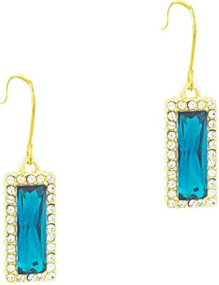 Savvy Artistically Crafted Crystal Brass Drop Earring