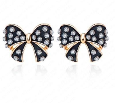 Yiwu Bow Crystal Alloy Stud Earring
