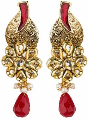 Bridesmaid Cubic Zirconia, Crystal Copper Drop Earring