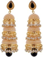 Crunchy Fashion Three layer Jhumkas Brass Jhumki Earring
